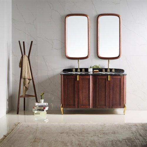 American style single sink wall hung bathroom vanities