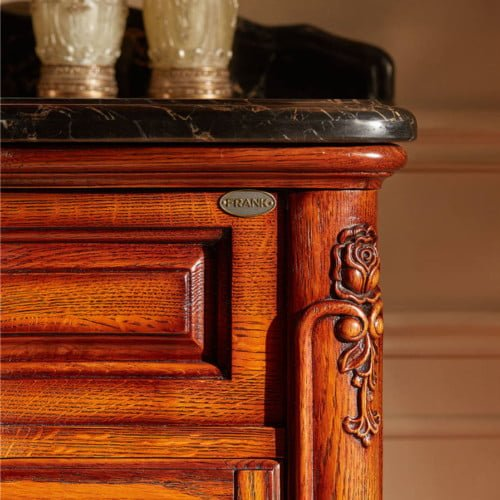 Antique Style Oak Wood Bathroom Vanity Suppliers